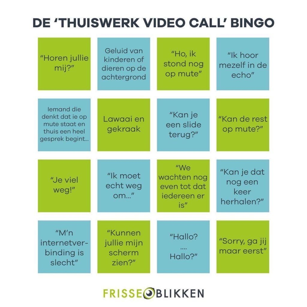 Hoe kan je productief thuiswerken bingo