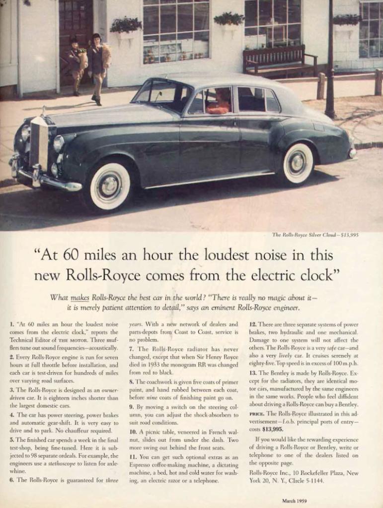 Rolls Royce – Het tikken van de elektrische klok en het belang van goede productkennis