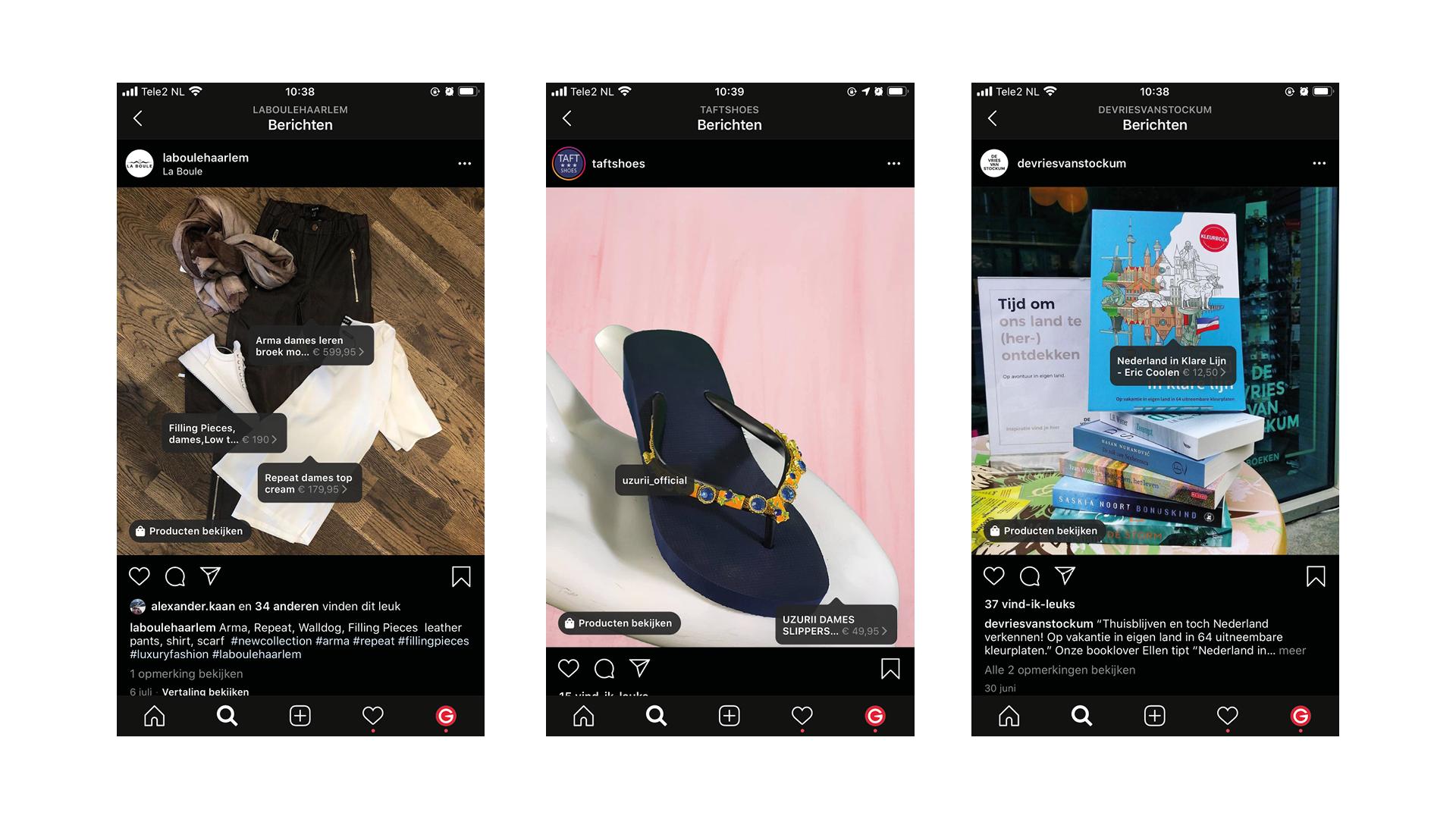 De product tagging van Instagram is alleen mogelijk voor organische posts en niet voor advertenties