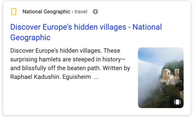 Google Web Stories te herkennen door het witte telefoonschermpje rechts onderin de hoek