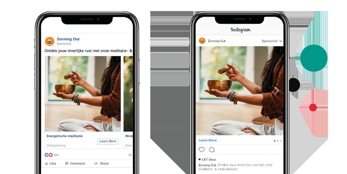 Instagram think fase carrousel campagne om de informatiebehoefte te vervullen