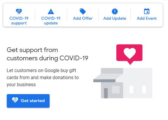 google my business covid corona bericht