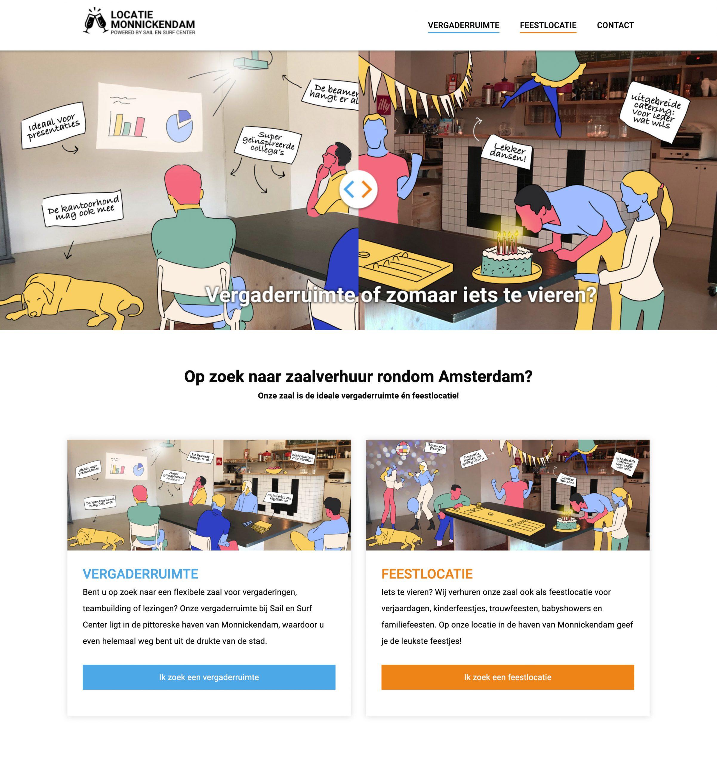 Een interactieve slider voor Locatie Monnickendam