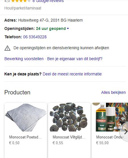 Gratis reclame voor je bedrijf door producten toe te voegen in google my business