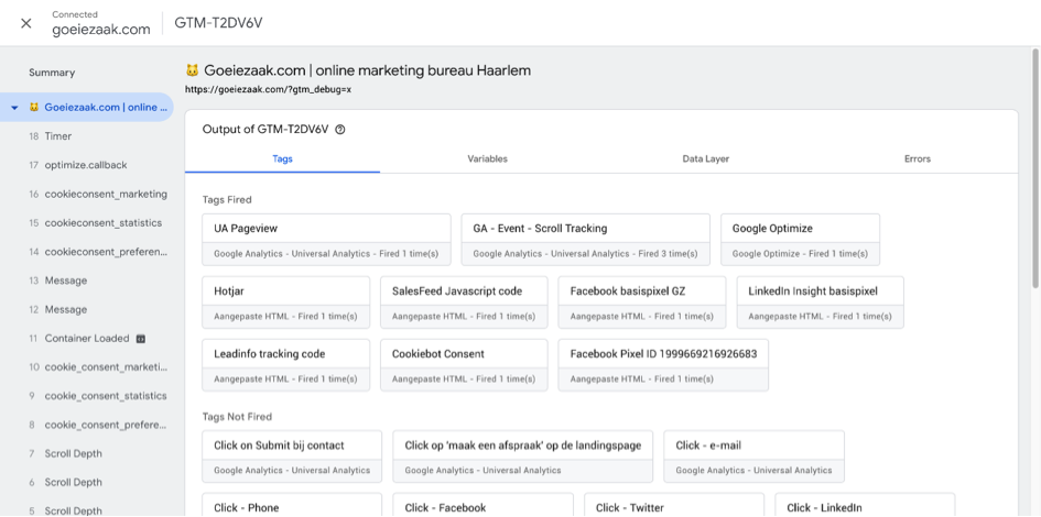 google tag manager Tag Assistant Preview Mode in Google Tag Manager