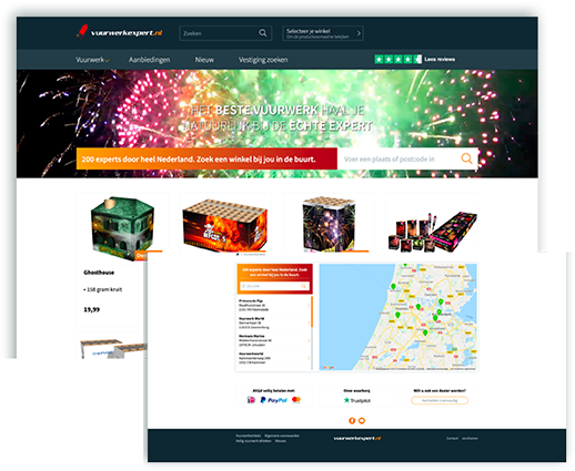 Website Vuurwerkexpert optimalisatie