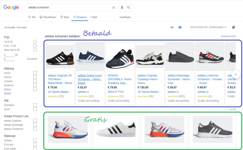 Hoe kan je producten gratis bovenaan in google zetten