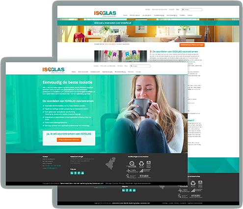 Isoglas webdesign