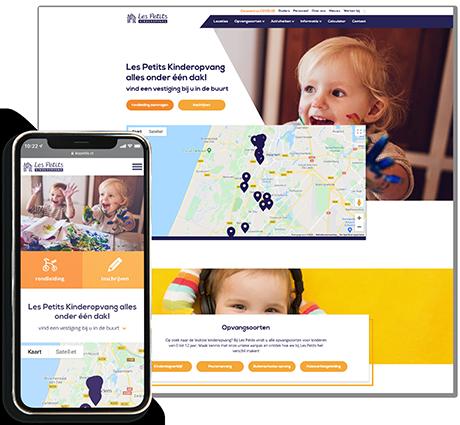 Nieuw design website Les Petits