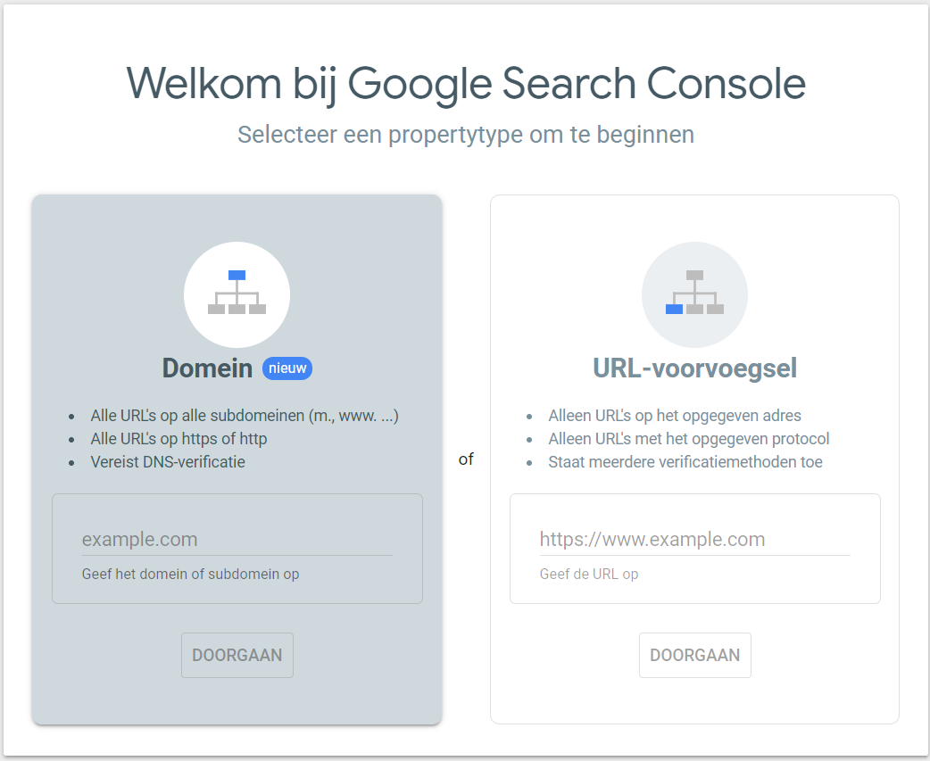 SEO analyse Google Search Console prototype